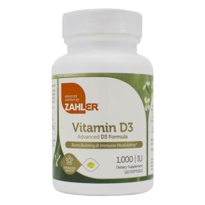 Vitamin D3 1000IU - Advanced Nutrition by Zahler