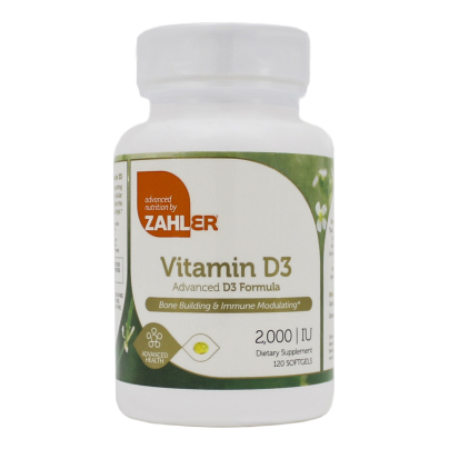 Vitamin D3 2000IU - Advanced Nutrition by Zahler