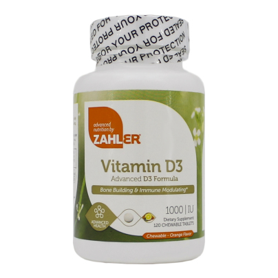 Vitamin D3 Chewable 1000IU - Advanced Nutrition by Zahler
