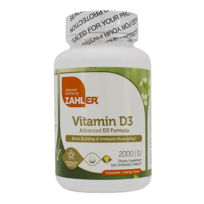 Vitamin D3 Chewable 2000IU - Advanced Nutrition by Zahler