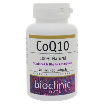 CoQ10 400mg - Bioclinic Naturals