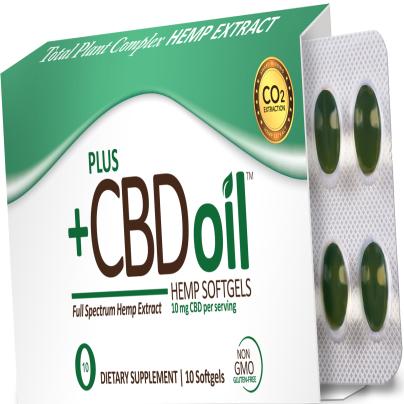 CBD Oil™ Green Softgels 10mg - PlusCBD Oil
