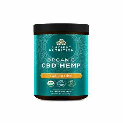 Organic CBD Hemp Powder Golden Chai - 20mg - Ancient Nutrition