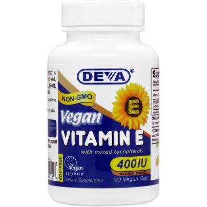 Vitamin E 400 IU - Mixed Tocop. - Deva Nutrition
