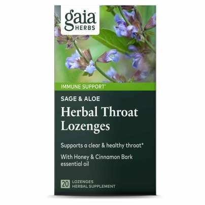 Sage & Aloe Herbal Throat Lozenges product image