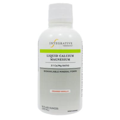 Liquid Calcium Magnesium Orange-Vanilla 2:1 - Integrative Therapeutics