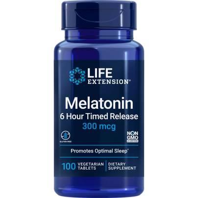 Melatonin 6 Hour Timed Release 300 mcg - Life Extension