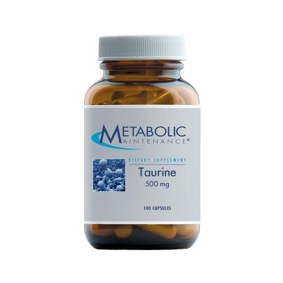 Taurine 500mg - Metabolic Maintenance