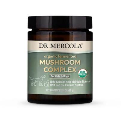 Whole Food Mushroom Complex for Pets - Dr. Mercola Premium Products