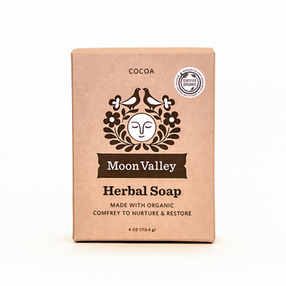 Cleansing Body Bar Cocoa Butter Comfrey - Moon Valley Organics