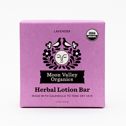 Moon Melt Lotion Bar Lavender - Moon Valley Organics