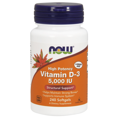 Vitamin D-3 5,000IU - NOW Foods