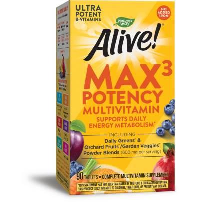 Alive!® Max3 Daily Multi-Vitamin Iron-free product image