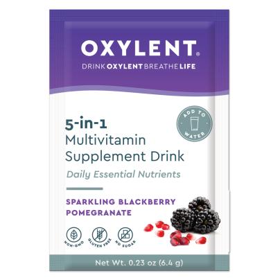 Multi 5-in-1, Sparkling Blackberry Pomegranate - Oxylent