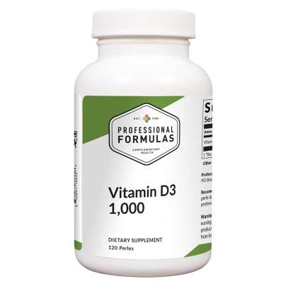 Vitamin D3 1,000 IU - Professional Formulas