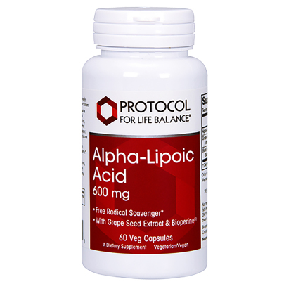 Alpha Lipoic Acid 600mg - Protocol for Life Balance