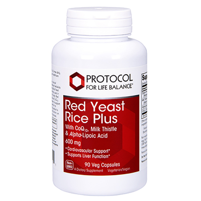 Red Yeast Rice Plus 600mg - Protocol for Life Balance