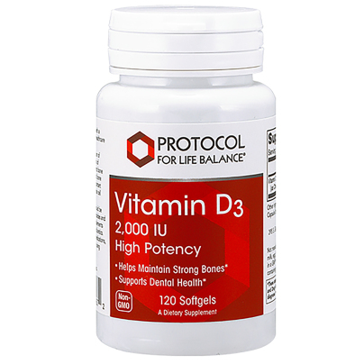 Vitamin D3 2,000IU - Protocol for Life Balance