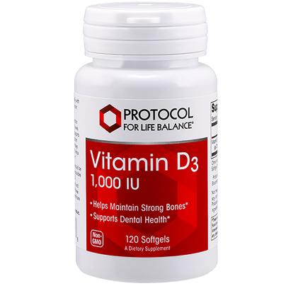 Vitamin D3 1,000IU - Protocol for Life Balance