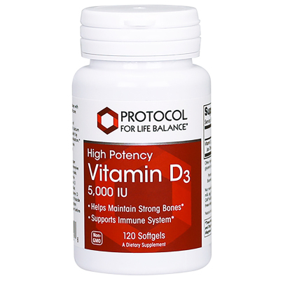 Vitamin D3 5,000IU - Protocol for Life Balance