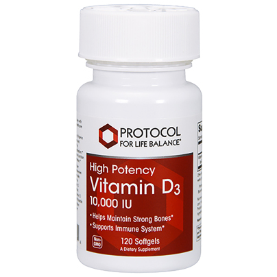 Vitamin D3 10,000IU - Protocol for Life Balance