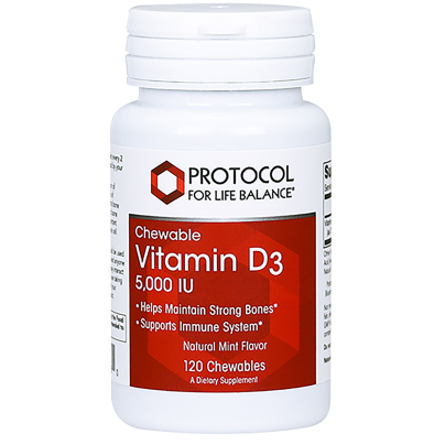 Vit D-3 5000IU Chewable Mint - Protocol for Life Balance