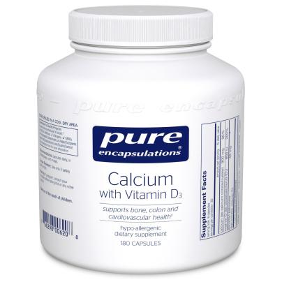 Calcium With Vitamin D3 - Pure Encapsulations