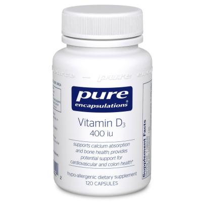 Vitamin D3  10mcg (400IU) - Pure Encapsulations