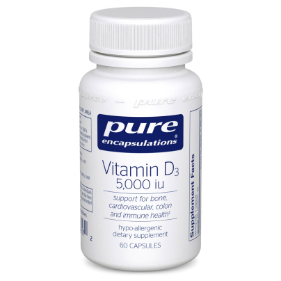 Vitamin D3  125mcg (5,000IU) - Pure Encapsulations