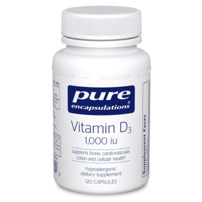 Vitamin D3  25mcg (1,000IU) - Pure Encapsulations