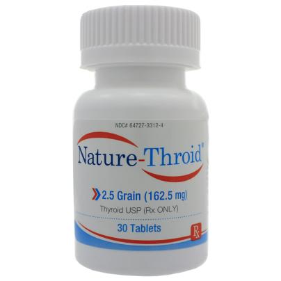 Nature-Throid 2.5 Grain - Nature-Throid RLC Labs