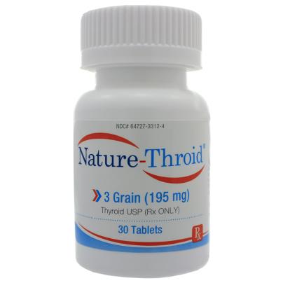 Nature-Throid 3 Grain - Nature-Throid RLC Labs