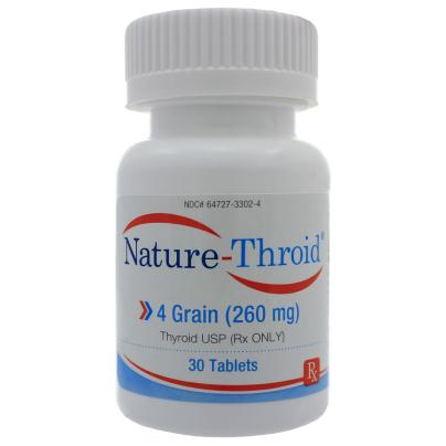 Nature-Throid 4 Grain - Nature-Throid RLC Labs
