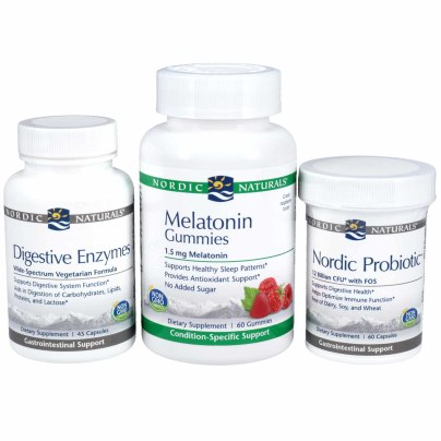 Digestive Enzymes, Nordic Probiotic, & Melatonin Gummies Kit - Nordic Naturals