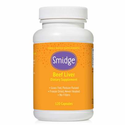 Smidge® Beef Liver Capsules - Protein & Vitamin A - Grass-fed product image