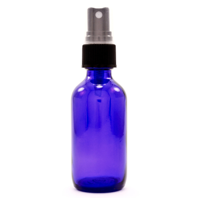 Cobalt Blue Bottle w/Atomizer - Bottles and Containers