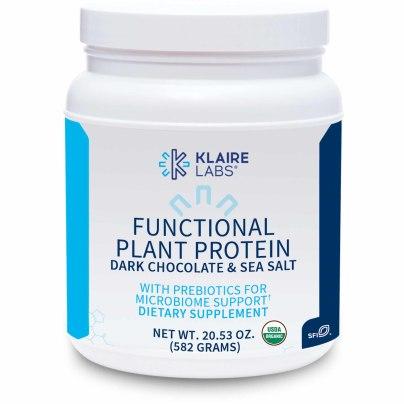 Functional Plant Protein Dark Chocolate & Sea Salt with Prebiotics - Klaire Labs