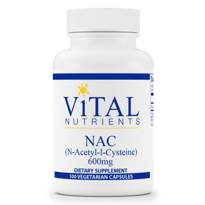 NAC (N-Acetyl-l-Cysteine) 600mg - Vital Nutrients