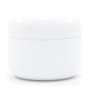 Double Wall White Plastic Jar w/Dome Lid product image