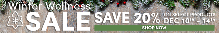 Save 20% off select products during our Winter Wellness Sale