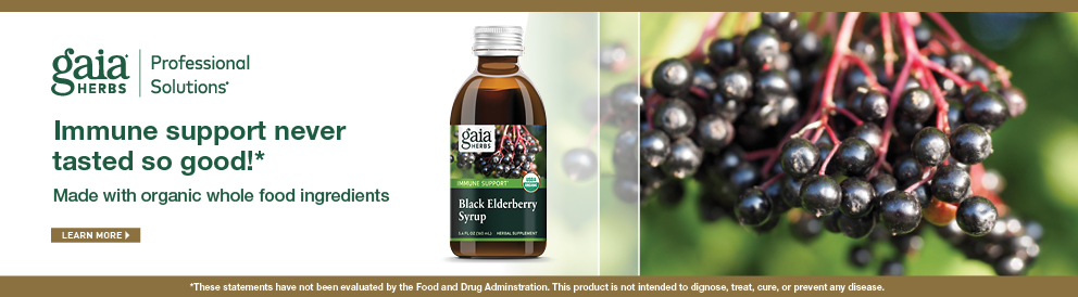 Shop Black Elderberry Syrup from Gaia Herbs