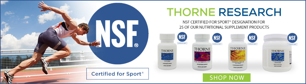 Thorne Research NSF Certified For Sport