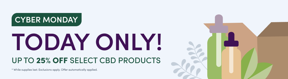 Today only! Up to 25% off select CBD products