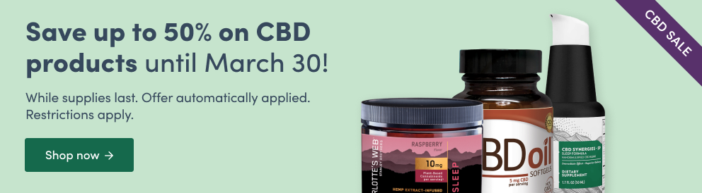 Save up to 500% on CBD products until March 30!