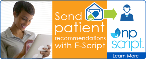 Send patients E-script recommendations.