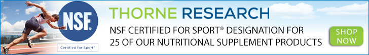 Thorne Research NSF Certified For Sport Shop Now